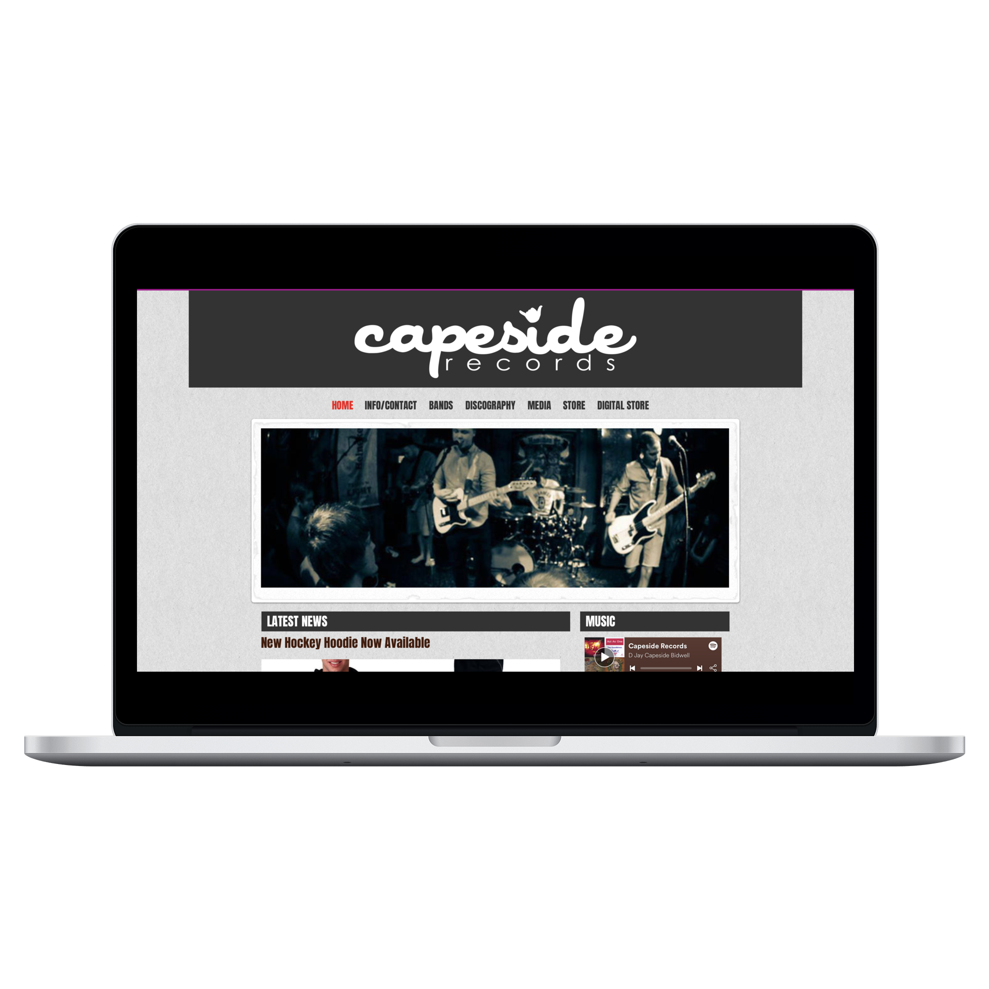 Designed for Capeside Records (WIX)