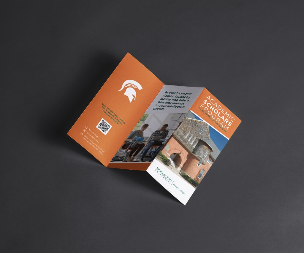 Z Fold Brochure Presentation Mockup